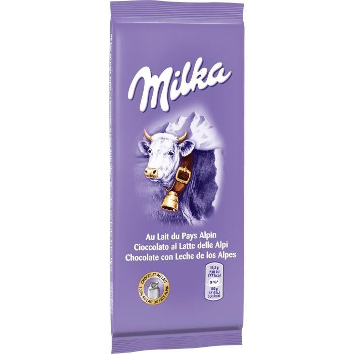 MILKA Chocolat au lait alpin - 200 g