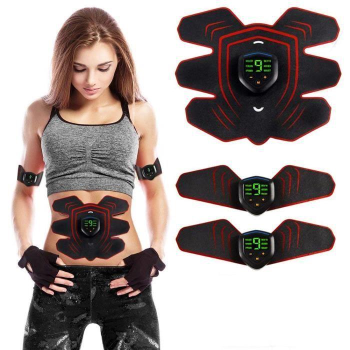 Appareil Abdominal, Electrostimulateur Musculaire ABS Trainer EMS Smart Ceinture Domicile Ventre Bras Jambe Hommes Femmes
