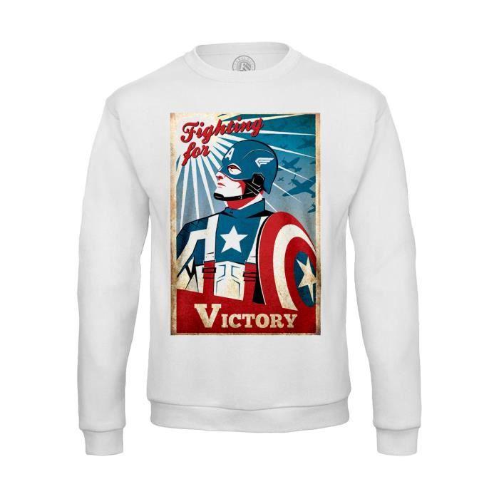 Sweat-shirt Homme Captain America Avengers Vintage