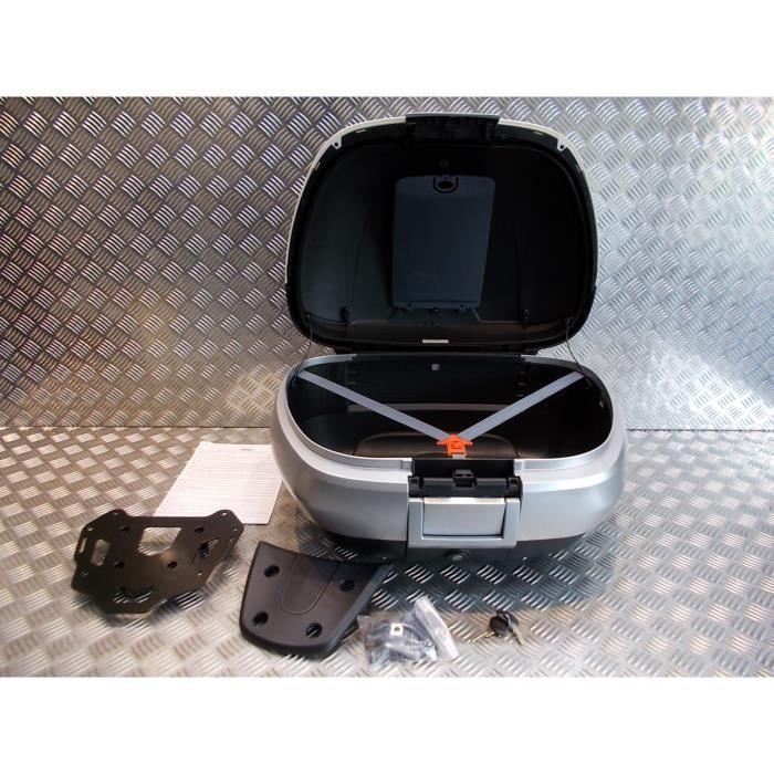kit top case 50 litres porte bagage scooter piaggio 300 - 500 mp3 2014 - 2016 blanc 505/a cm261507