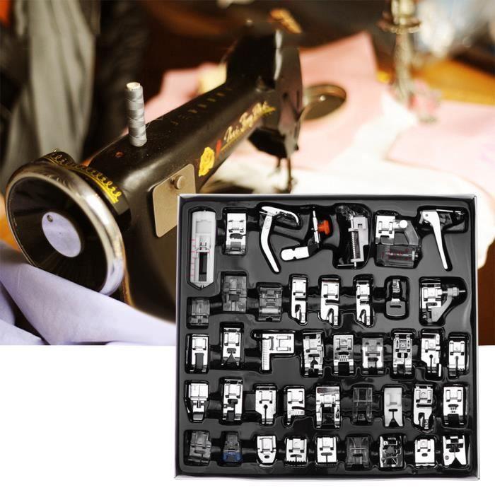 42 pcs Machine à coudre biche kit Ourlet Pied de pièces accessoires pour Brother Singer Butterfly Janome Baby Lock