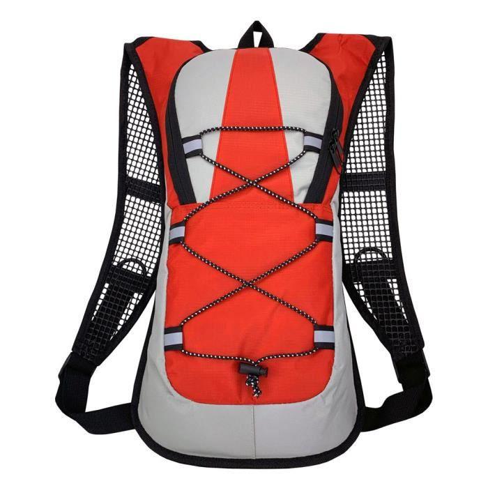 Vélo Sac à dos Sac à dos Sac à dos Étanche Sac à bandoulière imperméable pour la course à pied Escalade Trekking Travel Rouge