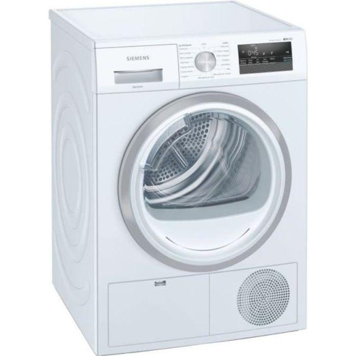 Sèche-linge pompe à chaleur SIEMENS WT45HV03FF - 8kg - Classe A++ - Blanc