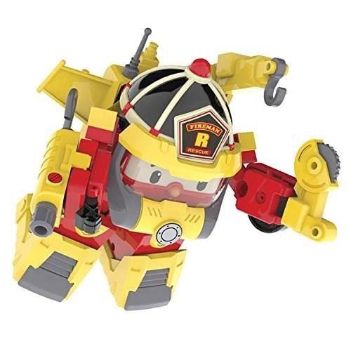 ROBOCAR POLI Véhicule Transformable Roy Action Pack Super Fireman