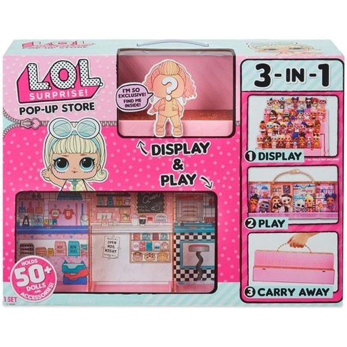 SPLASH TOYS- L.O.L. Surprise! Pop-Up Store Ensemble de jeu 3 en 1, Pour Les 6 ans et plus.
