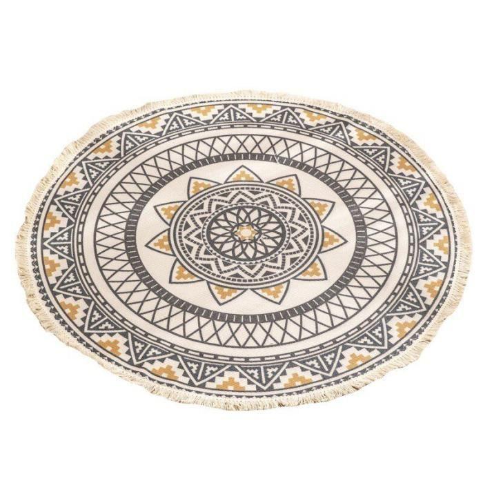 Salon Table basse Tapis de sol imprimé Tapis de sol Chambre à coucher Etudier rond tapis,UB1000A2
