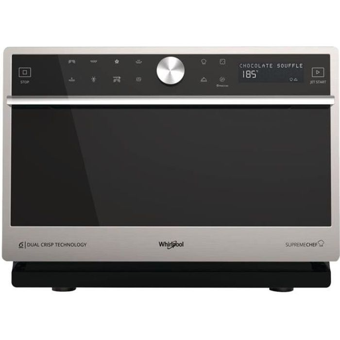 Whirlpool Supreme Chef MWP 3391 SX Four micro-ondes combiné grill pose libre 33 litres 1000 Watt acier inoxydable