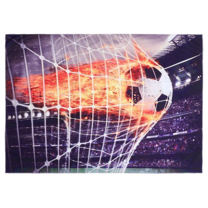 1 pc Tapisserie Murale Motif Football Style Sportif Impression Numérique Fond Polyester pour Chambre