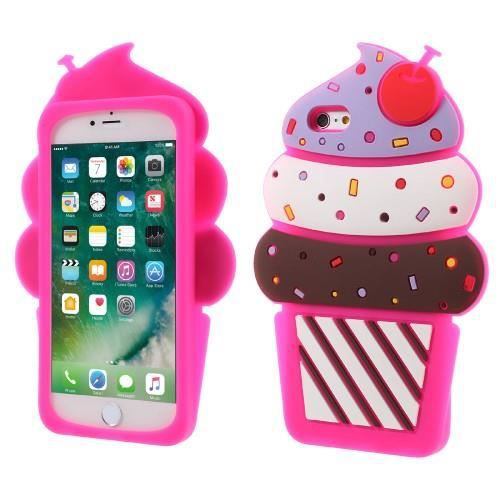 iphone 6 plus coque protection silicone rose glace