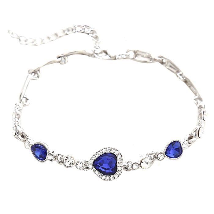 CHAINE DE CHEVILLE CHAINE DE CHEVILLE Femmes Ocean Blue Crystal stras