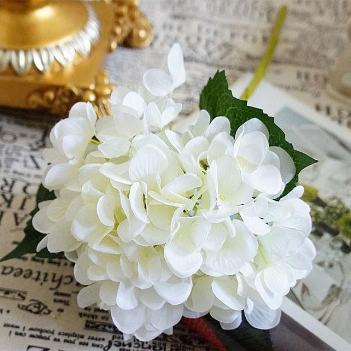 Version Blanc , Fleurs Artificielles Pas Cher Soie Hortensia