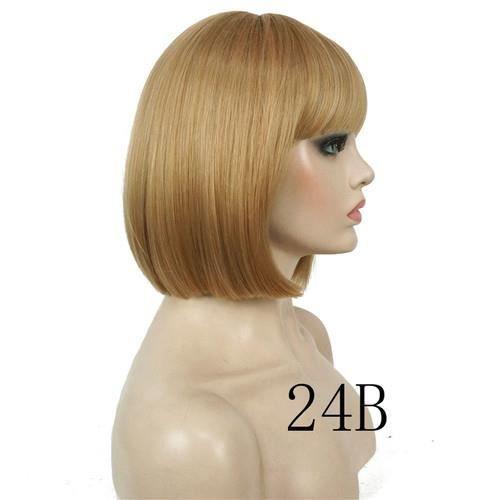 PERRUQUE - POSTICHE blond24 # cheveux synthétiques Bob courte perruque