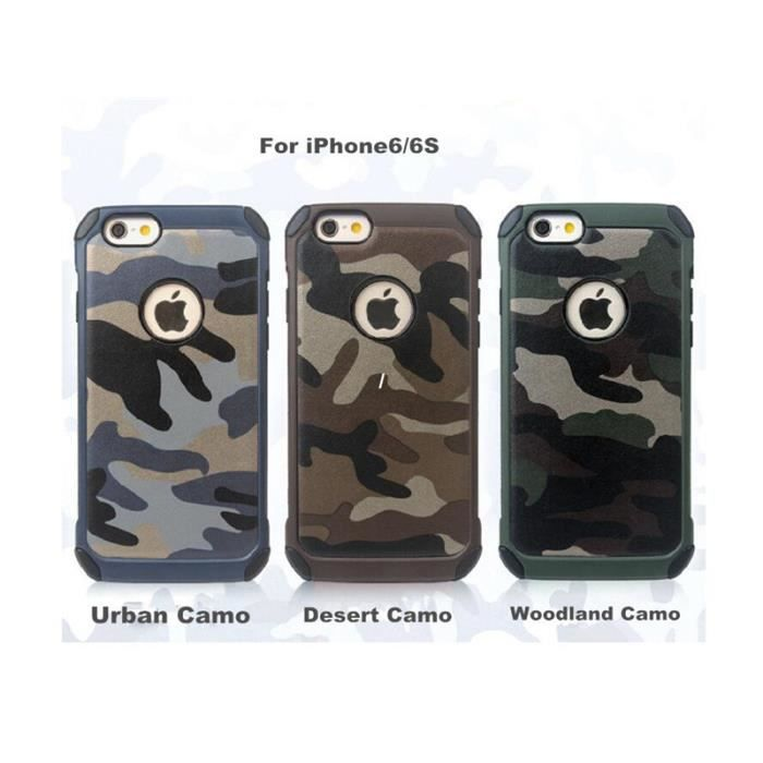 Coque iphone 6 6s 4 7 39 39 camouflage creative coque for Housse silicone iphone 7