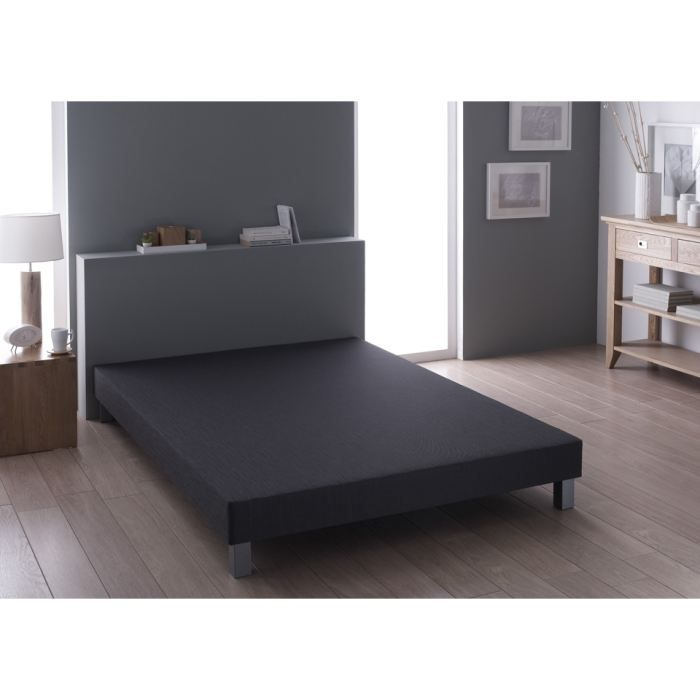 sommier relaxima anthracite 90x190 achat vente sommier cdiscount. Black Bedroom Furniture Sets. Home Design Ideas