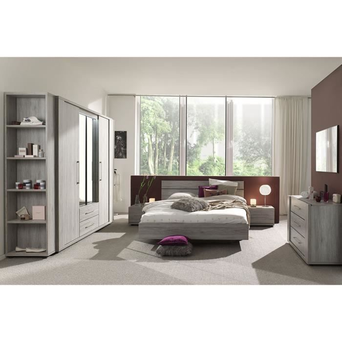 ensemble chambre coucher compl te contemporaine coloris portofino achat vente chambre. Black Bedroom Furniture Sets. Home Design Ideas