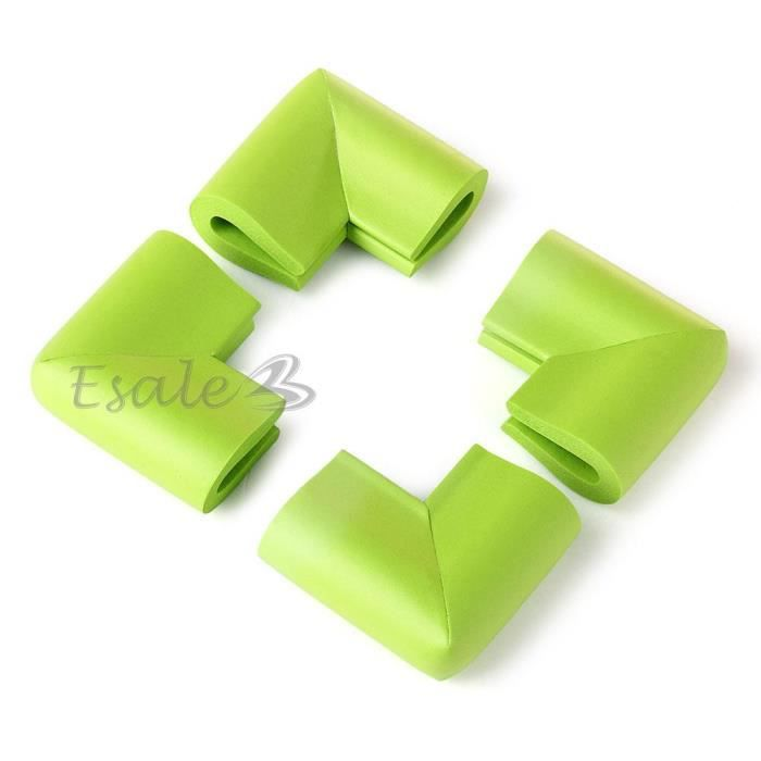 4x protecteur coin vert table protection meuble anti choc enfant b b s curit achat vente - Protection coin de table bebe ...