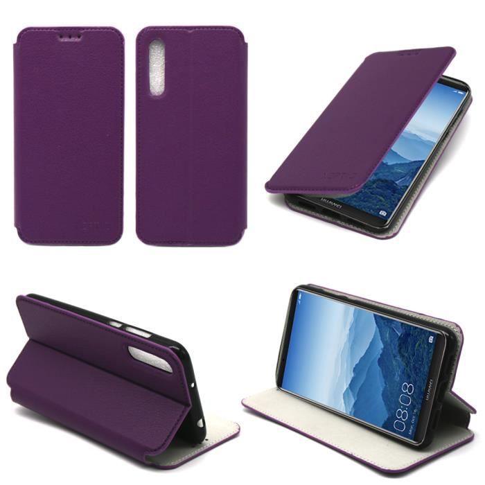 Etui coque Huawei P20 PRO violet - Housse pochette