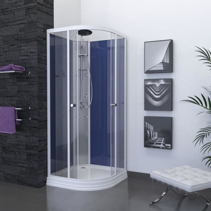 Aurlane cabine de douche night blue 85x85cm achat for Prix cabine douche