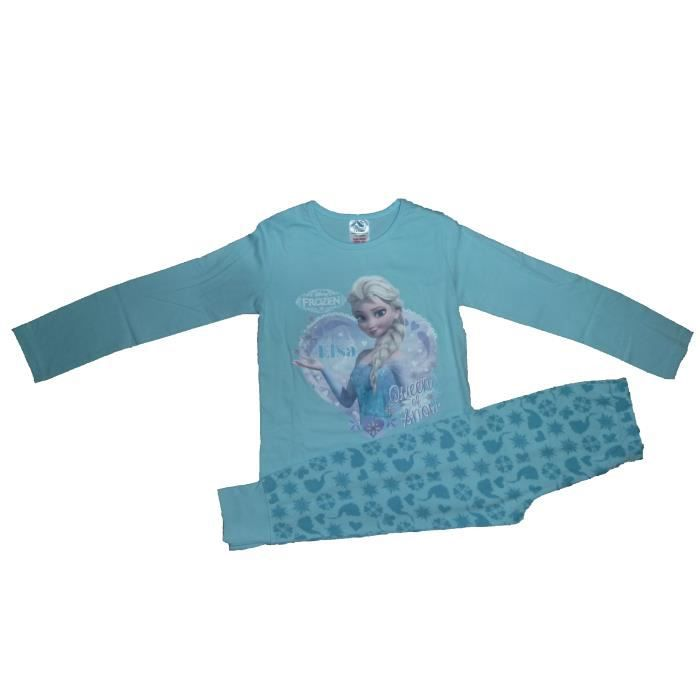 pyjama enfants frozen filles 7 8 ans fan de elsa la reine des neiges disney jolie maillot. Black Bedroom Furniture Sets. Home Design Ideas