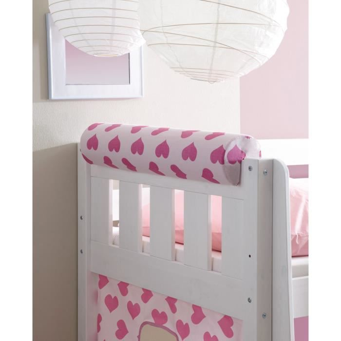 princesse rose achat vente t te de lit cdiscount. Black Bedroom Furniture Sets. Home Design Ideas