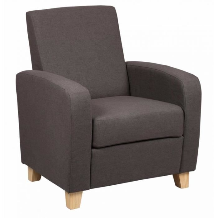 petit fauteuil seated tissu marron achat vente fauteuil marron cdiscount. Black Bedroom Furniture Sets. Home Design Ideas