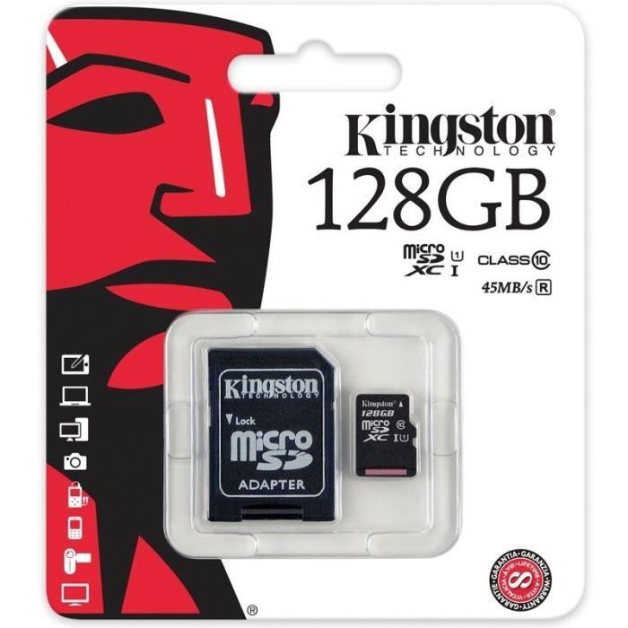 carte mémoire micro sd 128 go Carte Mémoire Micro SD SDXC 128 GO Classe 10 Pour GoPro Hero 3 4