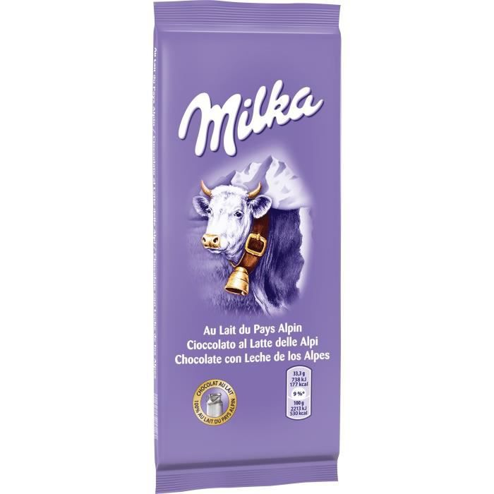 milka tablette de chocolat au lait 200g achat vente chocolat lait chocolat au lait 200gr. Black Bedroom Furniture Sets. Home Design Ideas