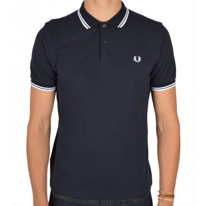 POLO Polo Fred Perry Slim Fit manches courtes M3600 ble