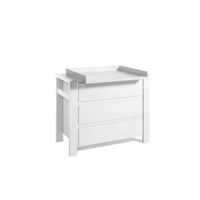 Commode langer collection milano white blanc achat vente table lange - Commode a langer cdiscount ...