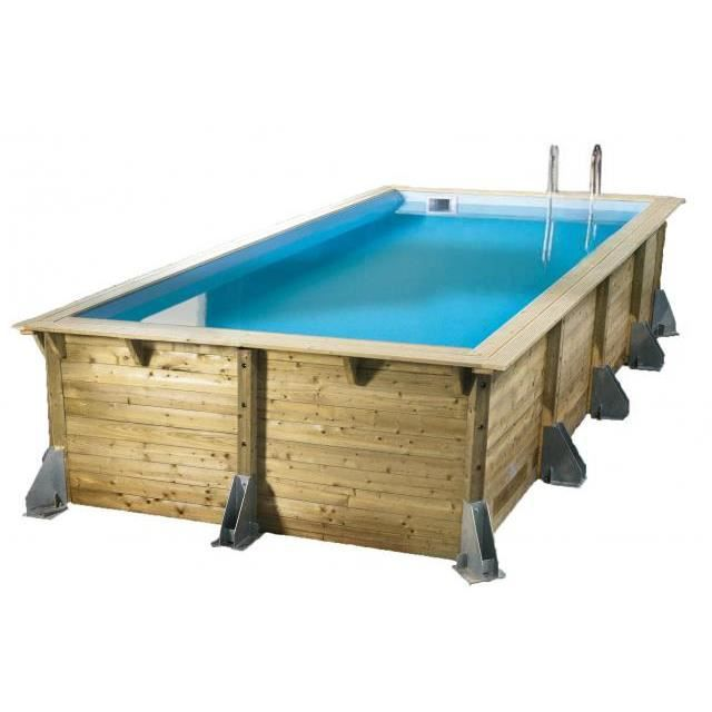 Piscine bois rectangulaire azura 350 x 505 cm h achat for Piscine demontable rectangulaire