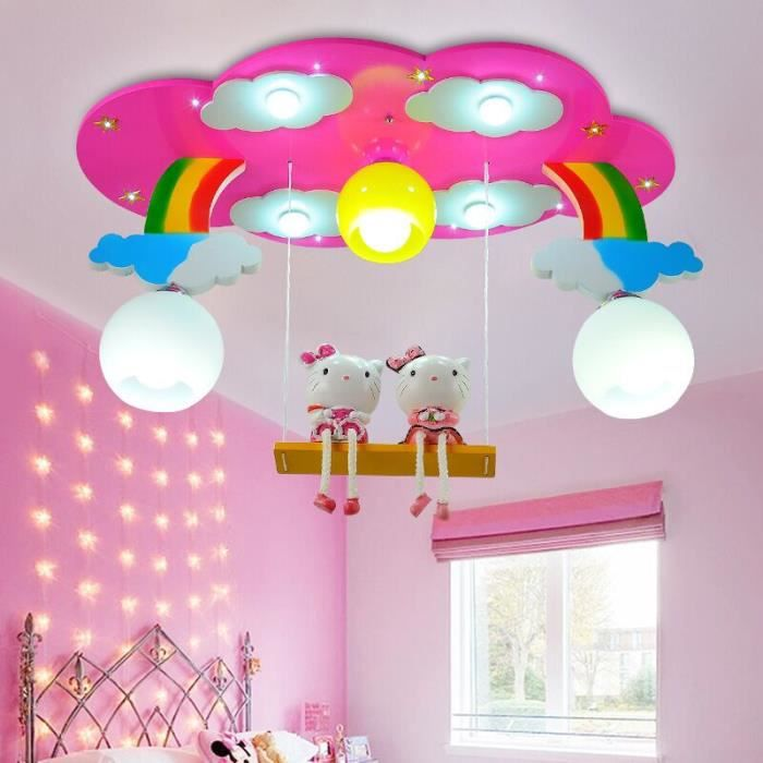lampe de plafond de la chambre des enfants rouge achat. Black Bedroom Furniture Sets. Home Design Ideas