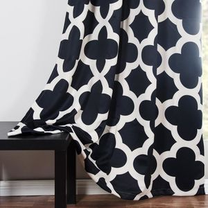 double rideau a motif achat vente double rideau a motif pas cher cdiscount. Black Bedroom Furniture Sets. Home Design Ideas