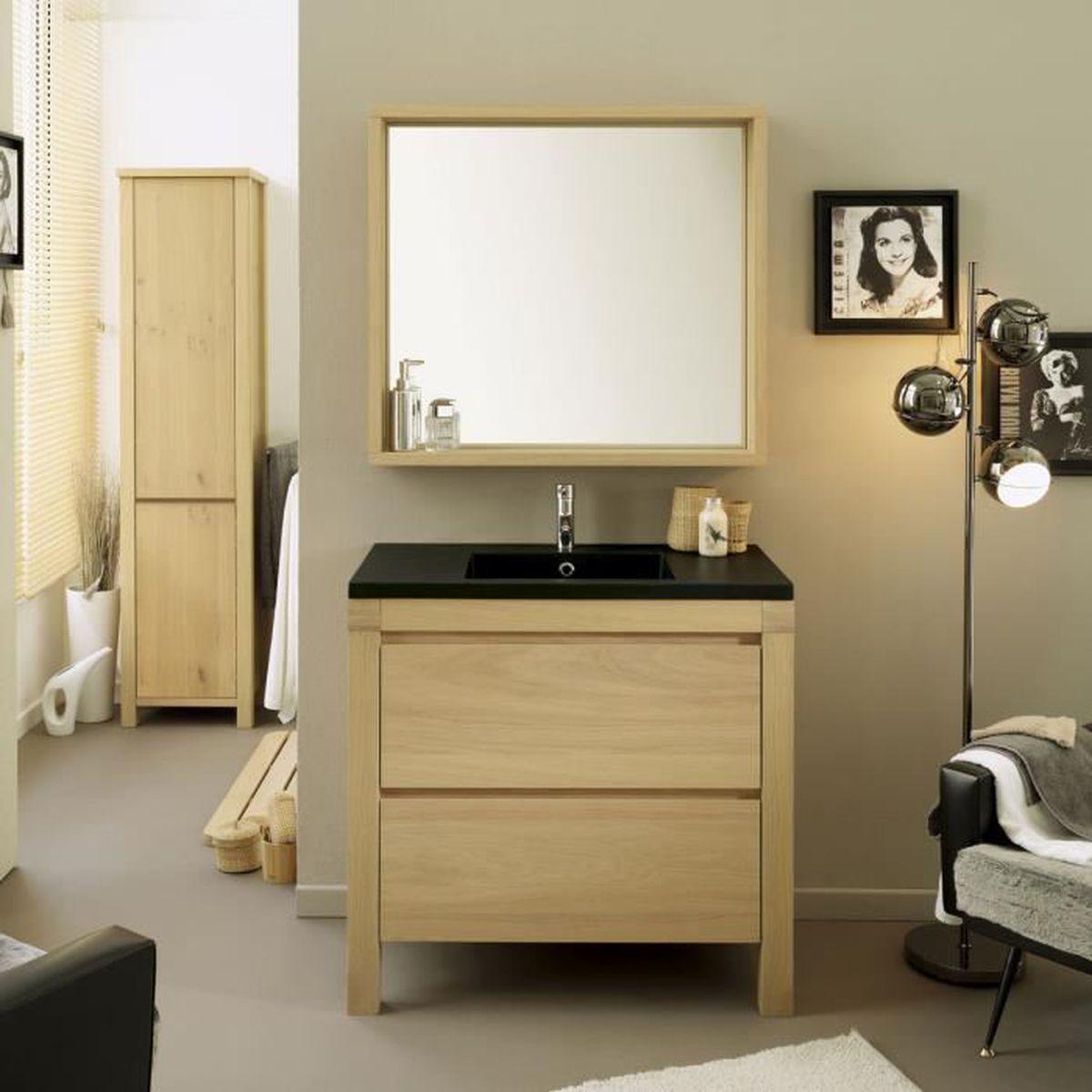 Meuble Pour Vasque Avec Colonne ensemble salle de bain valery meuble vasque + miroir 90 cm +