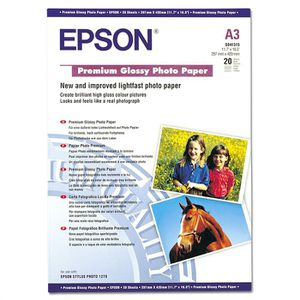 EPSON Papier photo brillant S041315 - 255g/m2 - A3 - 20 feuilles