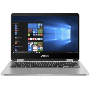"""Achat PC Portable ASUS VivoBook Flip TP401MA-BZ013R - Intel Celeron N4000 4 Go eMMC 64 Go 14"""" LED HD Tactile Wi-Fi AC/Bluetooth Webcam Windows 10 pas cher"""