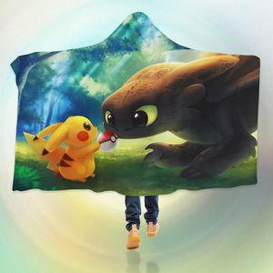 COUVERTURE - PLAID 3D Hooded Blanket for Pokemon 8236  Couverture à C