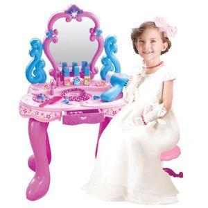 COIFFEUR - ESTHÉTIQUE Coiffeuse Table de Maquillage pour Enfant avec Mir