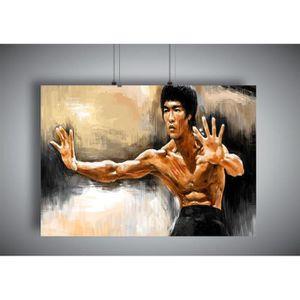 AFFICHE - POSTER Poster BRUCE LEE ART OF WING CHUN Wall Art - A4 (2