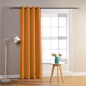 RIDEAU Paire de rideaux occultant 140x260 cm Orange