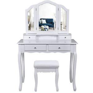 COIFFEUSE grande Coiffeuse Table de maquillage Avec miroir à