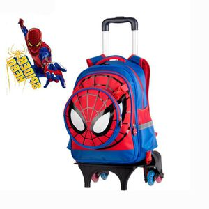 CARTABLE SPIDER-MAN Cartable à Roulettes Six roues Trolley