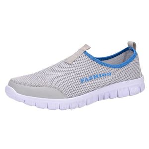 BASKET HEE GRAND Homme Chaussure Sportive Slip-on Gris