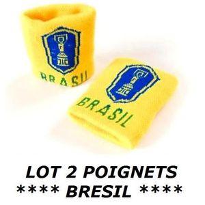 POIGNET ÉPONGE LOT 2 Bracelets poignet éponge 100% coton BRESIL B