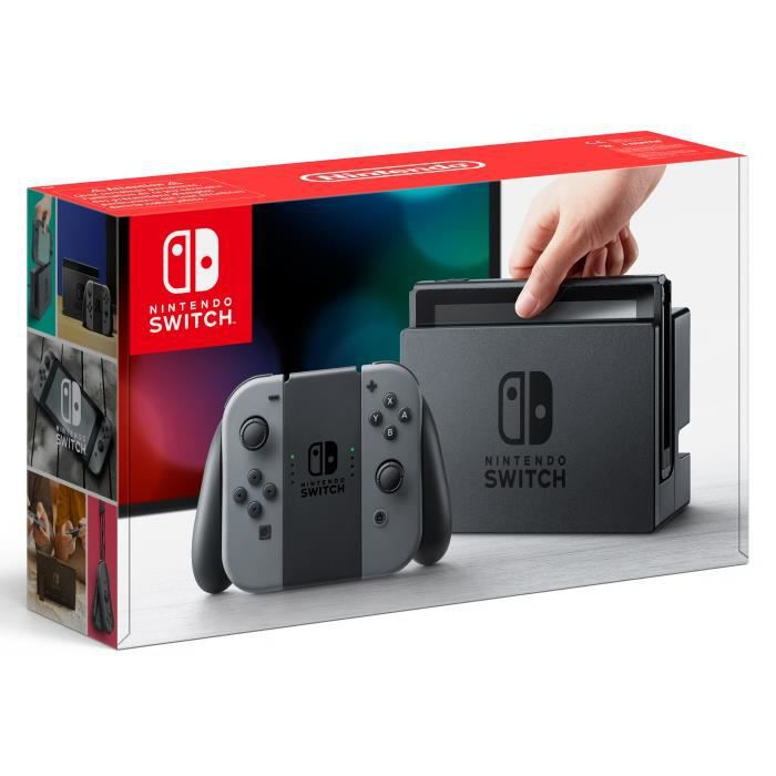 Nintendo Switch avec paire de Joy-Con gris