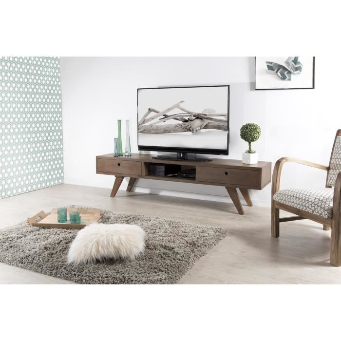 istanbul meuble tv scandinave en mindi cannelle verni 180 cm achat vente meuble tv. Black Bedroom Furniture Sets. Home Design Ideas
