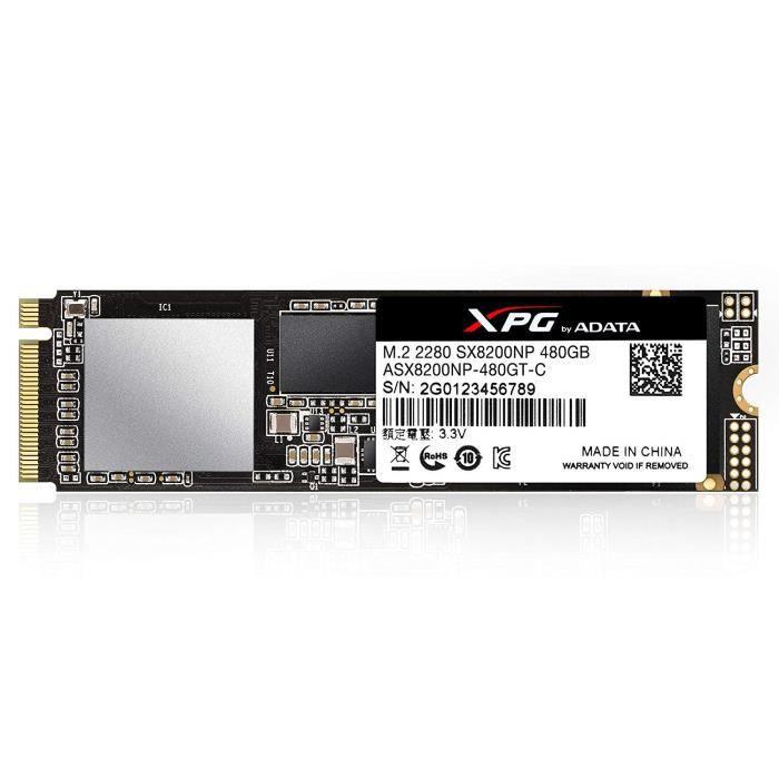 Adata Asx8200np 480Gt C Disque Flash Ssd interne 480 Go