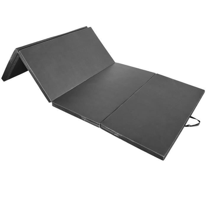 LUXS 240x120x5cm Tapis de Gymnastique Tapis Sol Epais Pliable - Matelas Gymnastique - Tapis Sol -Noir