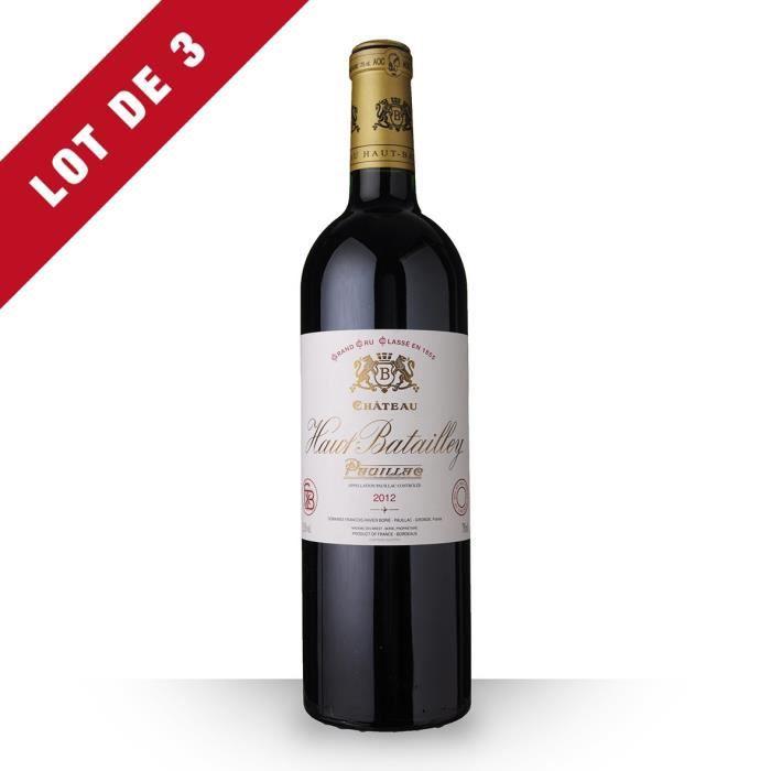 3X Château Haut-Batailley 2012 Rouge 75cl AOC Pauillac - Vin Rouge
