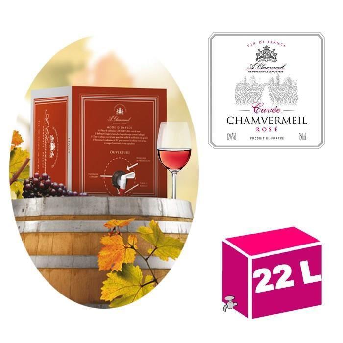 CUBI 22L Vin de France Cuvée rosé 12° Chamvermeil