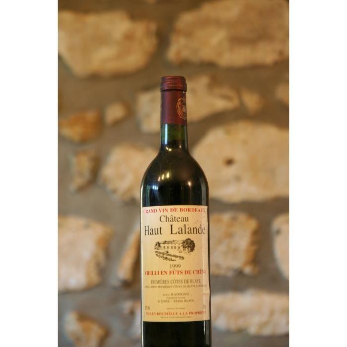 Vin rouge, Cote de Blaye, Château Haut Lalande 1999 Rouge